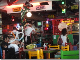 Ambiance in Carlos and Charleys- our favorite place in Cozumel- maybe anywhere!